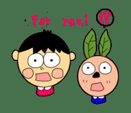 Yu-tan&Leaf rabbit sticker #75958