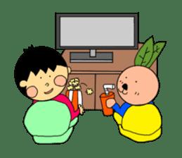 Yu-tan&Leaf rabbit sticker #75960
