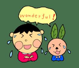 Yu-tan&Leaf rabbit sticker #75963