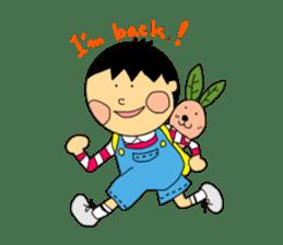 Yu-tan&Leaf rabbit sticker #75964