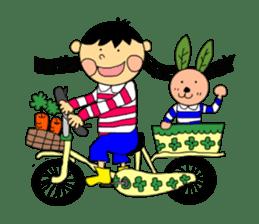 Yu-tan&Leaf rabbit sticker #75965