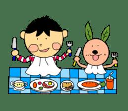 Yu-tan&Leaf rabbit sticker #75967