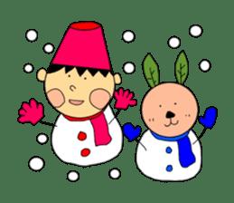 Yu-tan&Leaf rabbit sticker #75968