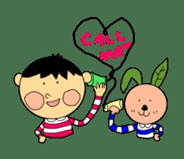 Yu-tan&Leaf rabbit sticker #75969