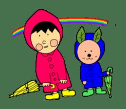 Yu-tan&Leaf rabbit sticker #75972