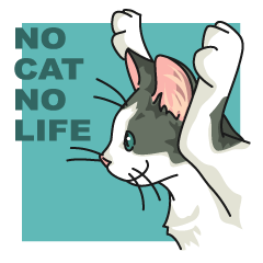 NO CAT NO LIFE Satowo cat stamp