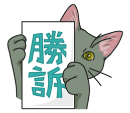 NO CAT NO LIFE Satowo cat stamp sticker #76561