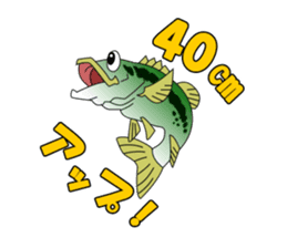 LET'S BASS FISHING!! sticker #80796