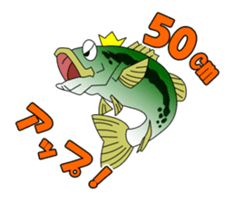 LET'S BASS FISHING!! sticker #80797