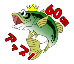 LET'S BASS FISHING!! sticker #80798