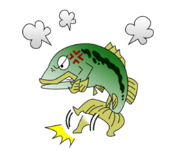LET'S BASS FISHING!! sticker #80799