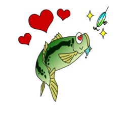 LET'S BASS FISHING!! sticker #80800