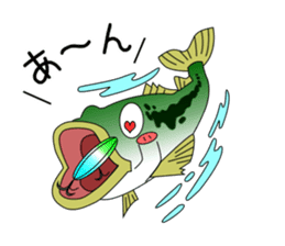 LET'S BASS FISHING!! sticker #80803