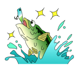 LET'S BASS FISHING!! sticker #80804