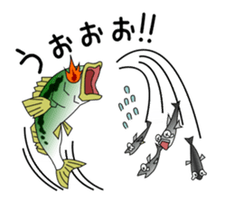 LET'S BASS FISHING!! sticker #80805