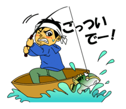 LET'S BASS FISHING!! sticker #80811