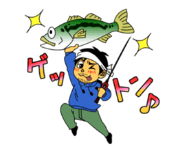 LET'S BASS FISHING!! sticker #80823