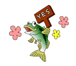 LET'S BASS FISHING!! sticker #80828
