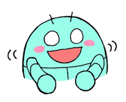 A PRETTY INSECT SHAPED ROBOT sticker #81220