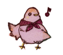 Birds STAMP  ein sticker #81357