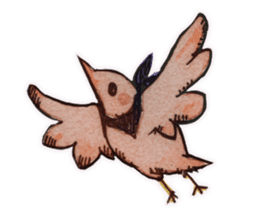 Birds STAMP  ein sticker #81366