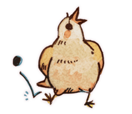 Birds STAMP  ein sticker #81370