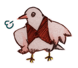 Birds STAMP  ein sticker #81383