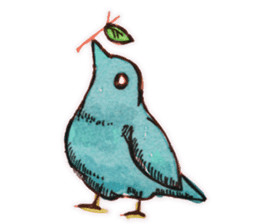 Birds STAMP  ein sticker #81386