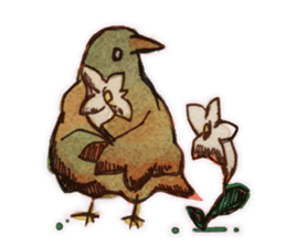 Birds STAMP  ein sticker #81389