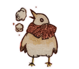 Birds STAMP  ein sticker #81393