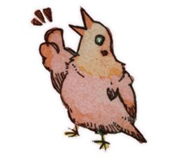 Birds STAMP  ein sticker #81394