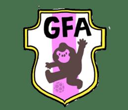 DARADARA GORILLA  SOCCER sticker #81555