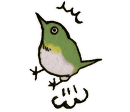 Birds STAMP vogel sticker #81999