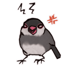 Birds STAMP vogel sticker #82026