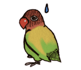 Birds STAMP vogel sticker #82030