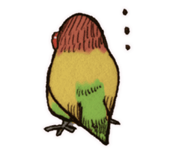 Birds STAMP vogel sticker #82033