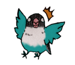 Birds STAMP vogel sticker #82034