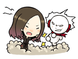 Hara Yumi's MaruMaru Radio Stamp sticker #83327