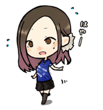 Hara Yumi's MaruMaru Radio Stamp sticker #83344
