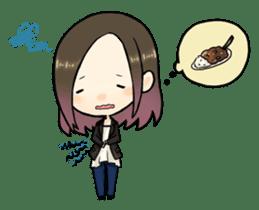 Hara Yumi's MaruMaru Radio Stamp sticker #83350