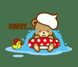 CREAM BABY BEAR sticker #83556