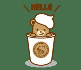 CREAM BABY BEAR sticker #83557