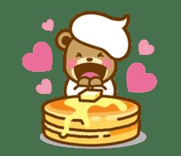 CREAM BABY BEAR sticker #83560