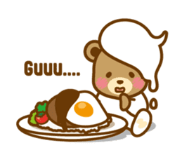 CREAM BABY BEAR sticker #83565
