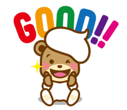 CREAM BABY BEAR sticker #83568