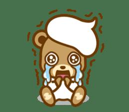 CREAM BABY BEAR sticker #83569