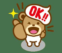 CREAM BABY BEAR sticker #83570