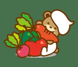 CREAM BABY BEAR sticker #83576