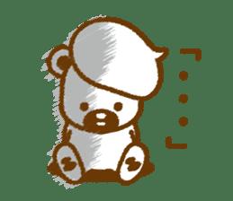 CREAM BABY BEAR sticker #83582