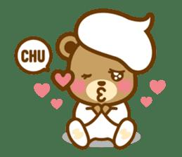 CREAM BABY BEAR sticker #83585